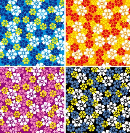 textile image: Flower background. Illustration