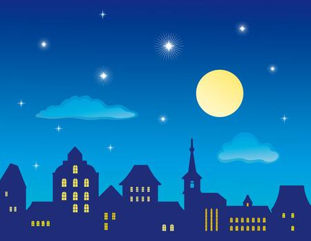 olanda: Skyline della citt� vecchia  Vettoriali