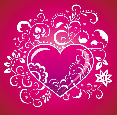 Valentine greeting card. Vector