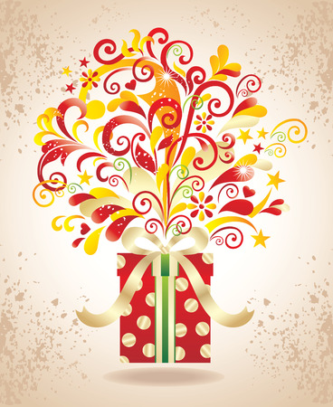 Gift background. Vector