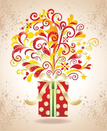 Gift background. Stock Vector - 8366522