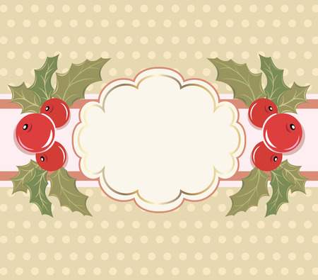 Christmas background with a frame. Vector