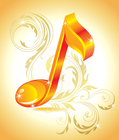 Beautiful music note. Stock Vector - 8366544