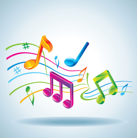 music notes: Beautiful music background.