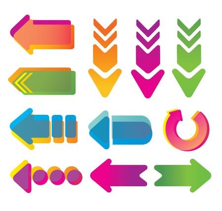 Colorful arrows.  Stock Vector - 9718129