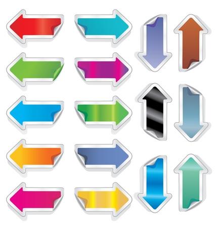 Arrows stickers. Stock Vector - 9718231