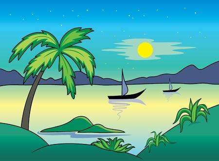 Seascape.  Ilustração