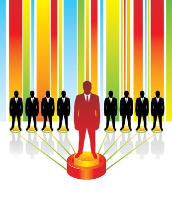 management concept: Equipo de concepto de negocio. Liderazgo.