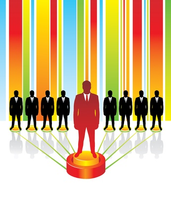 Team business concept. Leadership.  Stock Vector - 9718157