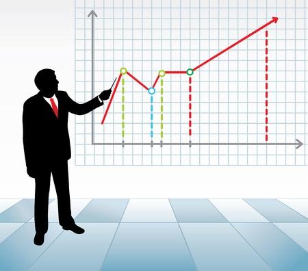 Business presentation.  Vector