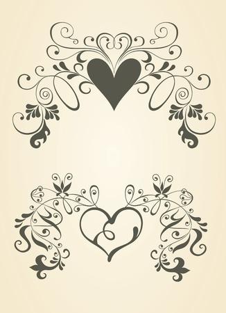 Vintage heart. Stock Vector - 9718139