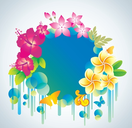 Beautiful flower background with exotic flower.  Vector