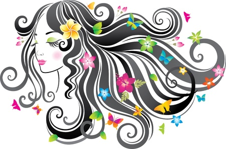 Beautiful woman.  Vector