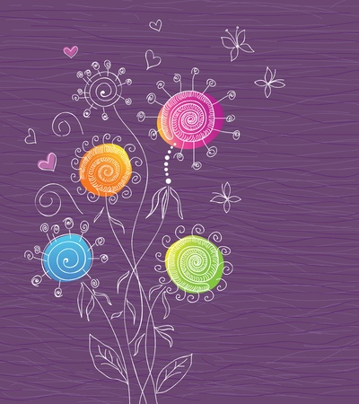 Floral background. Vector