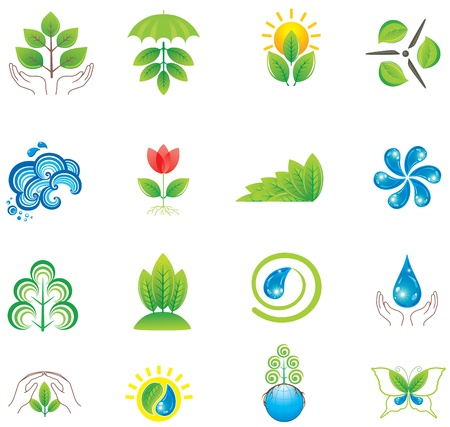 Environment. Set of design elements and icons. Stock Vector - 9722275