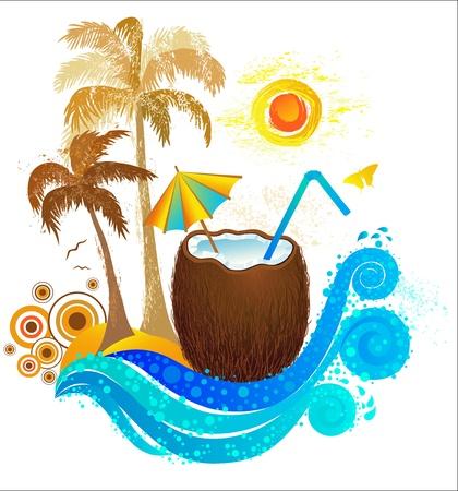 Travel to Paradise.  Illustration