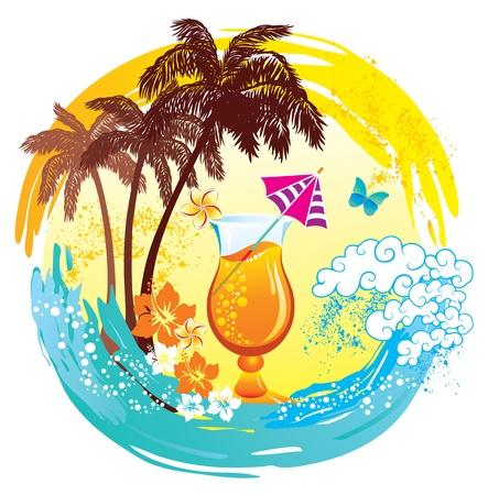 umbrellas: Tropical background.