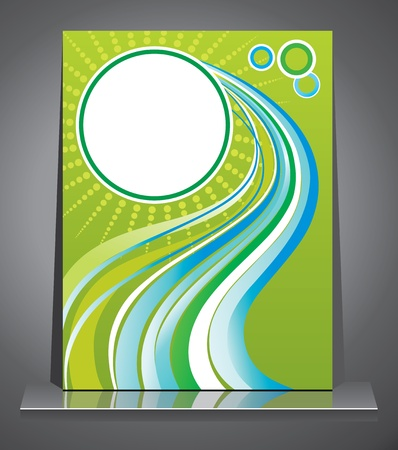 presentation folder: Business style. Abstract background.