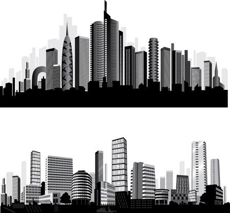 メトロポリス: 最高の都市のシルエット。設定します。