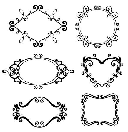 retro design elements: Set of vintage frames.