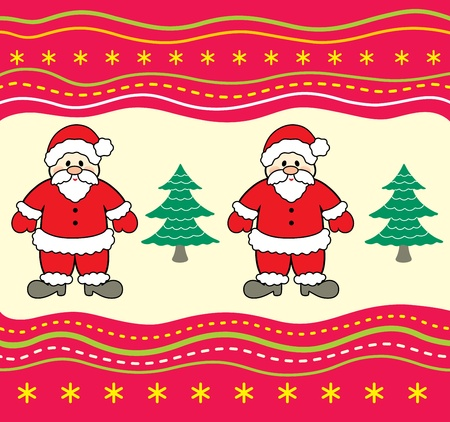 Christmas background with Santa Claus.  Vector