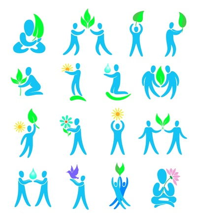 wellness environment: Environment  Set of design elements and icons