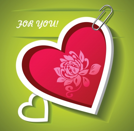 The Valentines Day  Greeting card   Vector