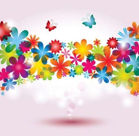 Colorful Flower Background Stock Vector - 15809159