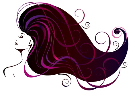 cosmetologies: Beautiful young woman