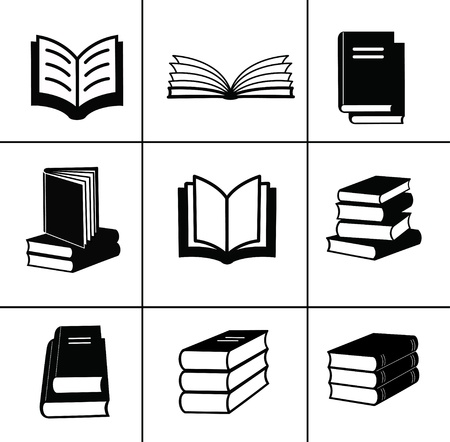 back icon: Book design elements