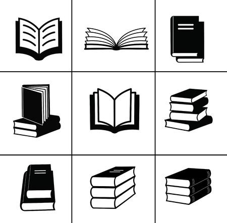libros abiertos: Reserve elementos de dise�o Vectores