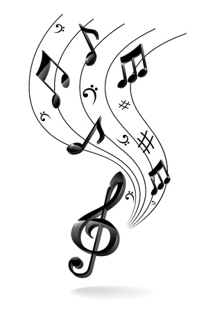 Background with Music Note. Stock Vector - 16579457