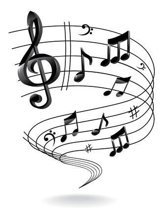 coro: Fondo con la nota de la m�sica. Vectores