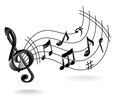 합창단: 음악 노트와 배경입니다.