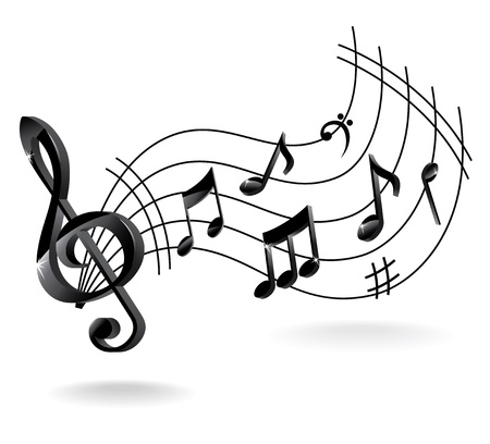 Background with Music Note. Vector