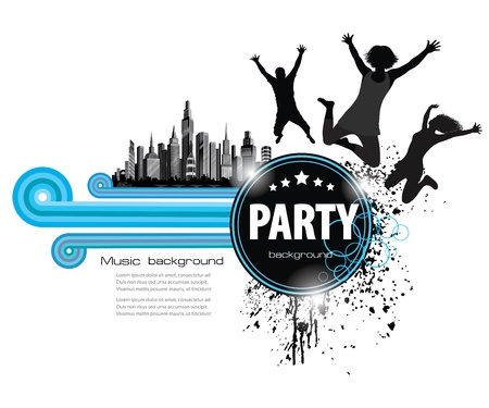 Abstract Vintage Background for Party. Vector