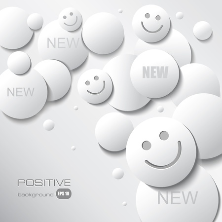 happy face: Positive Background for Your Text.  Illustration