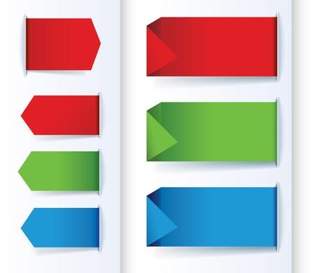 balise: Ensemble de fl�ches color�es et des banni�res de conception.