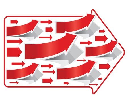 Red Arrows. Stock Vector - 17689741