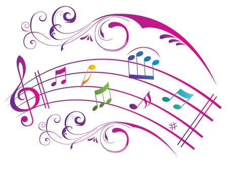 abstract music: Abstracte muziek achtergrond. Stock Illustratie