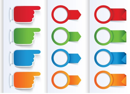Set of Colorful Arrows and Design banners. Stock Vector - 17689782
