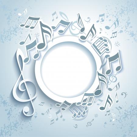 musical notes: Frame Música abstracta.