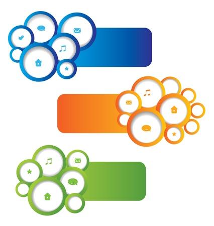 Abstract web design elements. Set. Stock Vector - 17689752