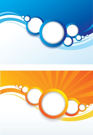 Set von abstrakten farbigen Hintergrund.