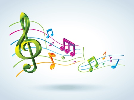 music symbols: Abstract music background.  Illustration