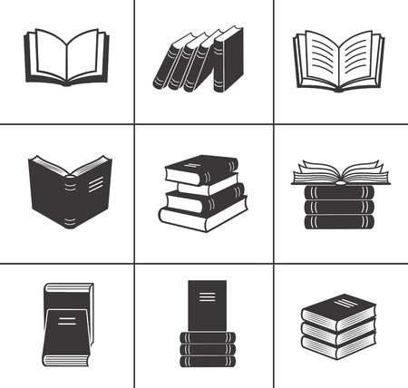 Book icons set Stock Vector - 18312807
