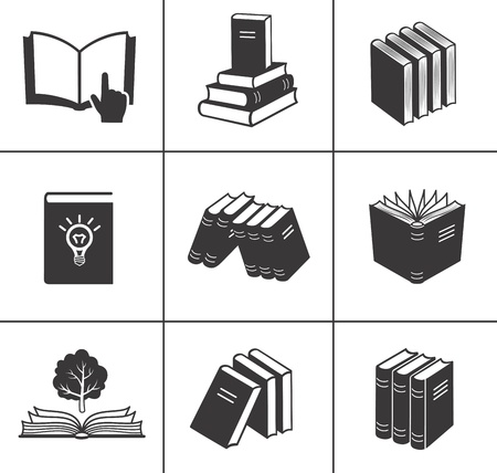school book: Book icons set