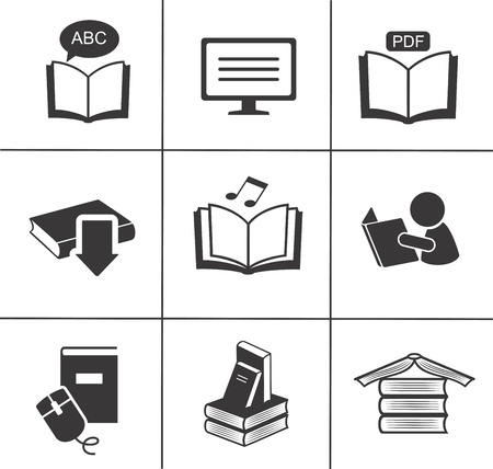Book icons set   Stock Vector - 18312806