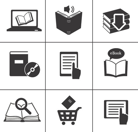 Book icons set   Stock Vector - 18312823