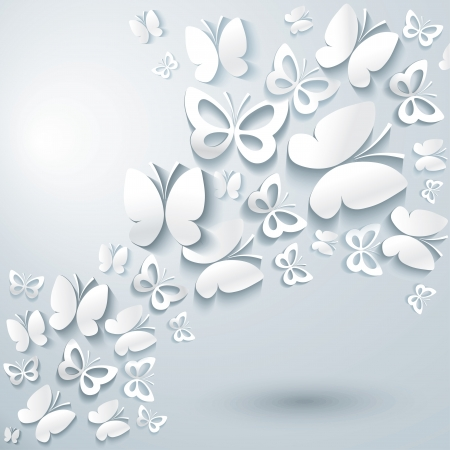 butterfly background: Abstract background with butterflies